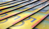 Lined Up Close-Up Banknotes — Stock Photo