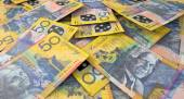 Scattered Banknote Pile — Stock Photo