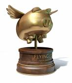 Flying Pig Trophy Award — Stock Photo