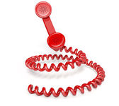 Handset And Coiled Cord — Stock Photo