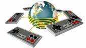 Vintage Gaming Competition — Stock Photo