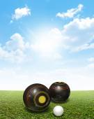 Bowls On Lawn — Stock Photo