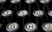 Vintage Typewriter Keys Close Up — Stock Photo
