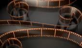 Film Strip Curled — Стоковое фото