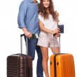 Attractive couple of tourist — Stock Photo #53471105