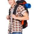 Young man hiking — Stock Photo #53471133