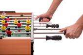 Close-up table game of soccer or foosball — Stock Photo