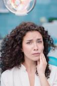 Young woman with toothache — Stock Photo