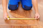 Close-up photo of measuring wood block — Stock Photo