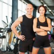 Fit couple at the gym looking very attractive — Stock Photo #65057085
