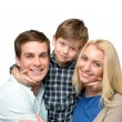 Cheerful family of three enjoying time together — Stock Photo #69399619