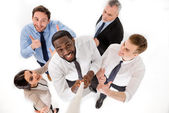 Concept for multi-ethnic business team — Stock Photo
