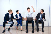 Concept for young modern business team — Stock Photo