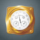 Barometer instrument, with scales for measuring air temperature  — Cтоковый вектор