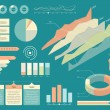 Set Of Infographics Elements. Flat Style Vector Illustration — Vector de stock  #70365707