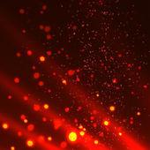 Siyah zemin soyut yangın alevleri. — Stok Vektör