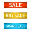 Big, grand sale banners. — Stock Vector #53817095
