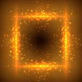 Glittering stars on bokeh background — Stock Vector