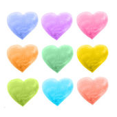 Set of hearts different color — Vetor de Stock