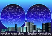 Constellations of hemisphere — Stock Vector