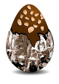 Chocolate egg with nuts — Vector de stock