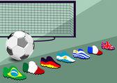 Fundo de futebol — Vetorial Stock