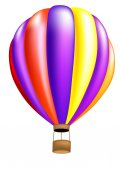 Hot air balloon colorful — ストック写真