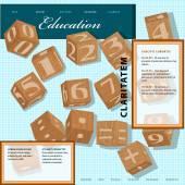 Template for education site — Vetor de Stock