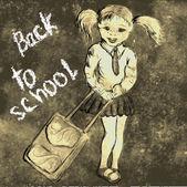In der schule — Stockvektor