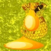 Abstract honey — Vector de stock