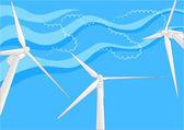 Windfarm — Stock Vector