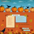 Pumpkins and Crows Autumn Background — Stock Vector #52405883