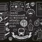 Back to School Chalkboard — Stock Vector #52406091