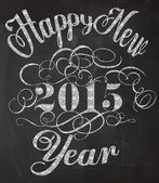 Happy New Year Chalkboard Poster — Stock Vector