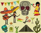 Mexico Clip Art and Symbols — Stock Vector