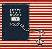 Love Anchors the Soul — Stock Vector
