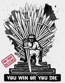 September 10, 2014: Vector illustration of the Iron Throne — Stock Vector