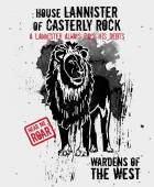 September 17, 2014: Vector illustration of the lion, sigil of the House Lannister — Stock Vector