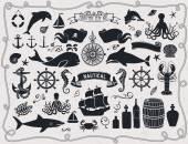 Maritime Clip Art — Stock Vector