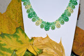 "Necklace of beads handmade ""Falling Leaves"" — Foto de Stock"