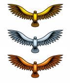 Metal Hawks — Stock Vector