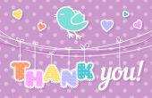Poděkování — Stock vektor