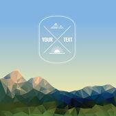 Low polygonal mountains — Stock Vector