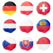 Watercolor Flags, Part II — Stock Vector