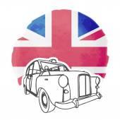 English Cab — Stock Vector