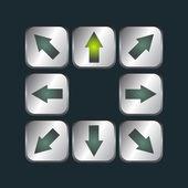 Arrows set — Stock Vector