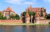 Teutonic Castle in Malbork, Poland — Stock Photo