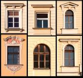 Set of Windows from Krakow, Poland  — Stock Photo