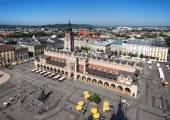Main Market Square in Cracow, Poland — Stock Photo
