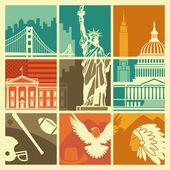 USA symbols — Stock Vector